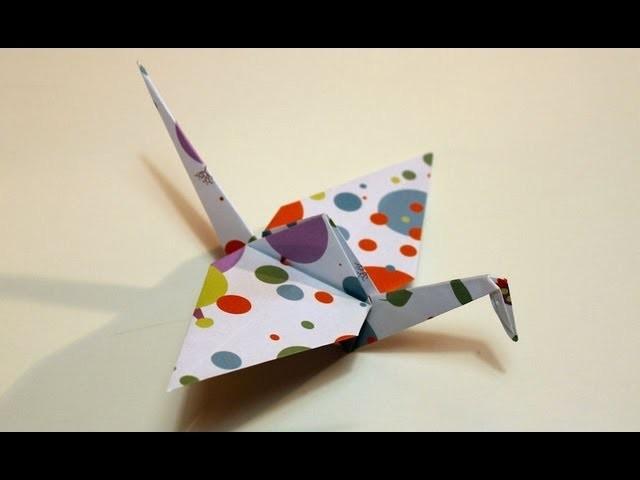 Come fare una gru origami   Tutorial Musinlove