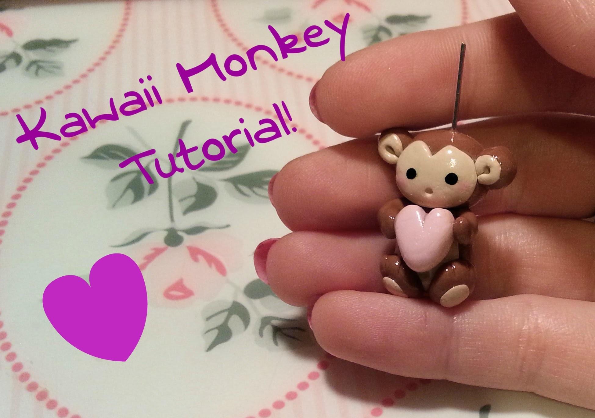 DIY Polymer clay: Tutorial Kawaii Monkey!