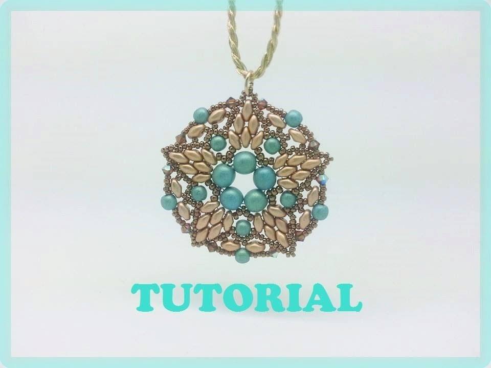 DIY: tutorial con perline, modulo Aster con superduo e perle