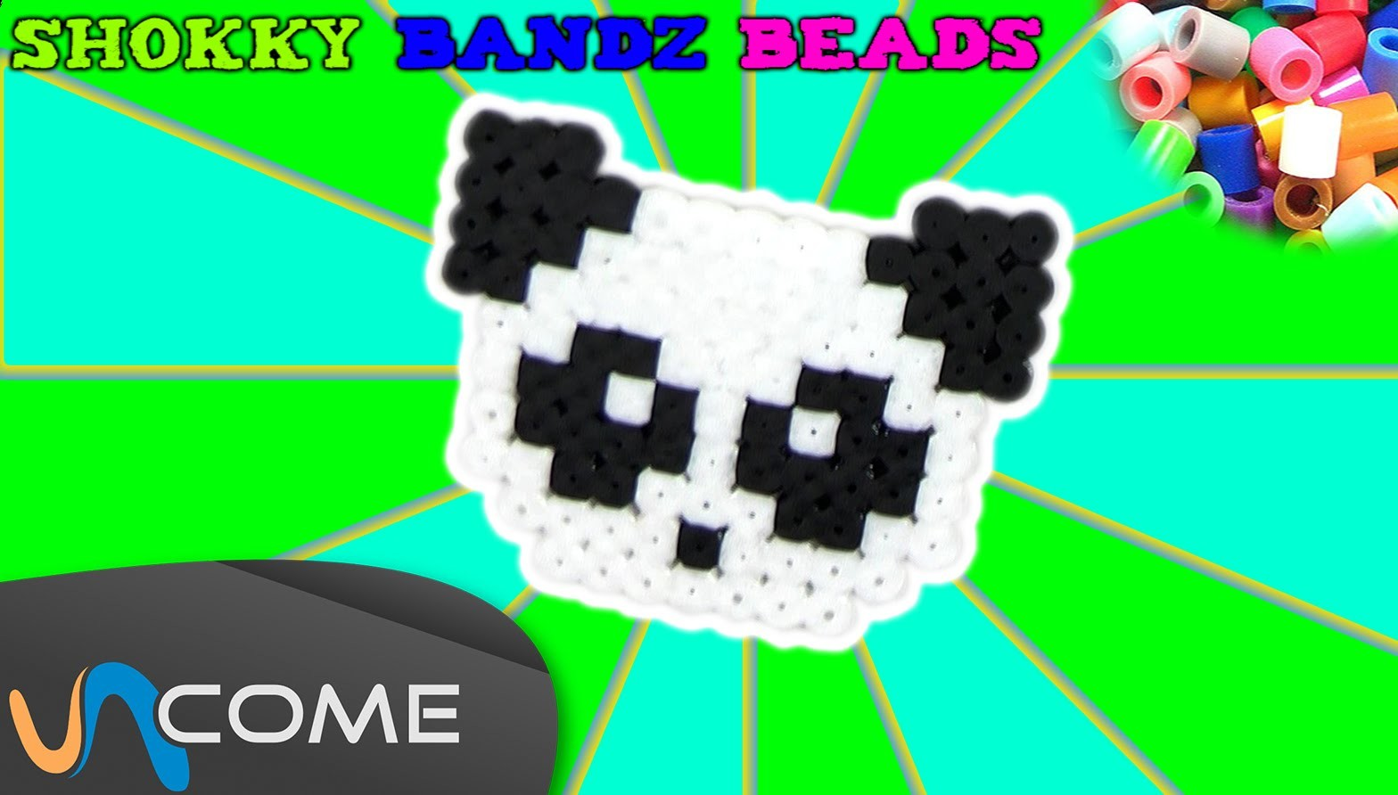Fare un panda con shokky bandz beads