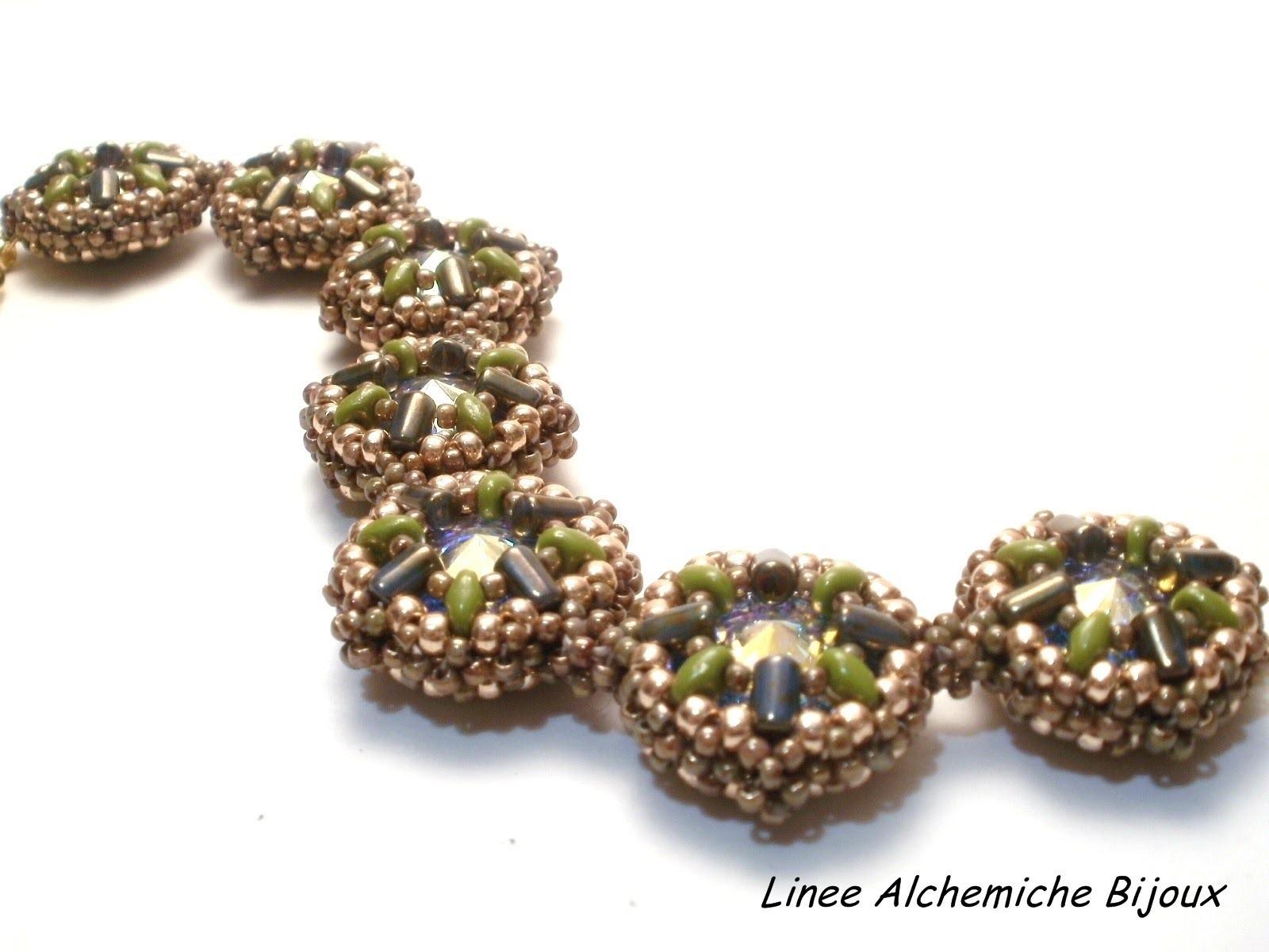 Nuove Creazioni con perline superduo e rulla e cristalli Swarovski | New beadwork