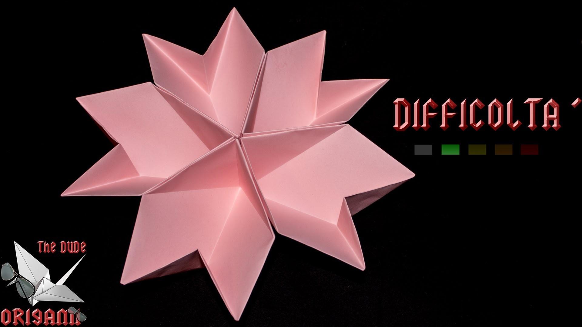 [ORIGAMI ITA] Fiore.Portaoggetti    Origami Decorativi.Utili.Fiori