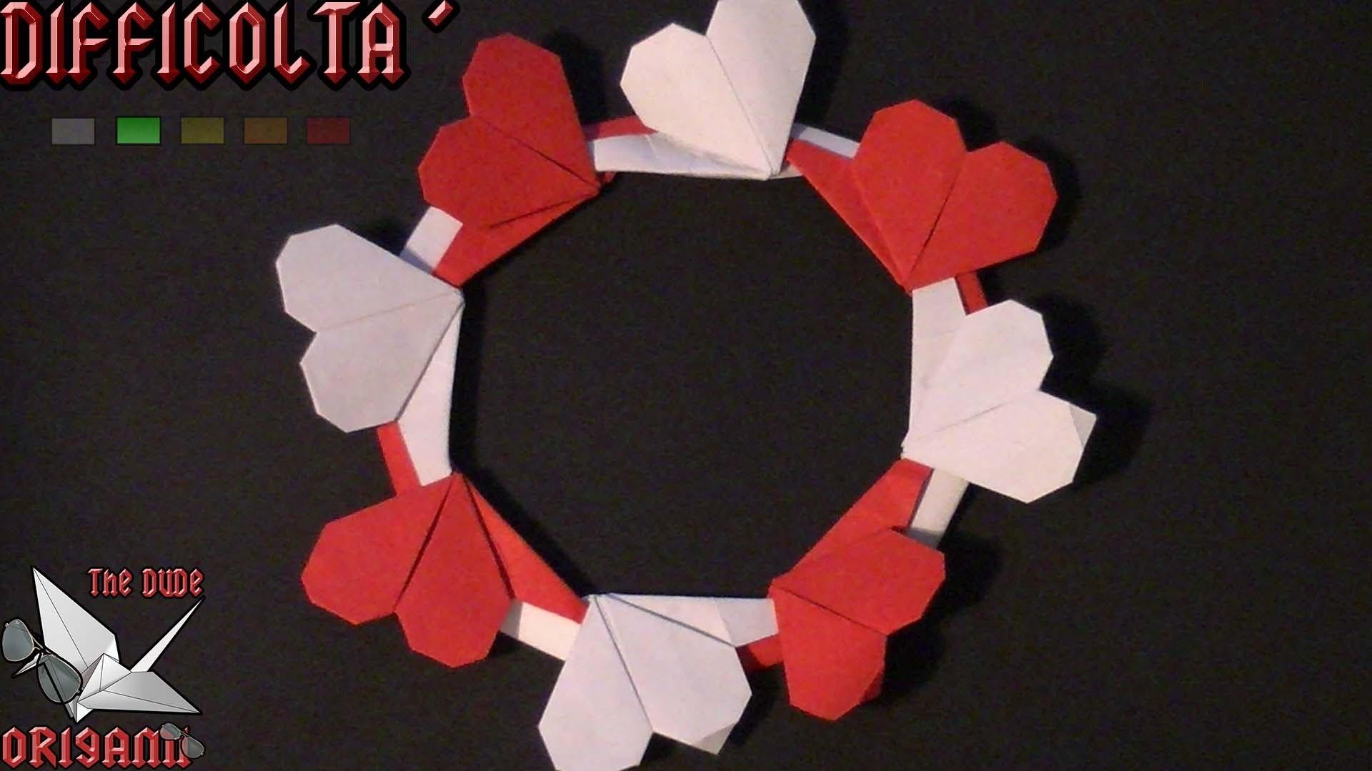 [ORIGAMI ITA] Ghirlanda Di Cuori #2    San Valentino Special