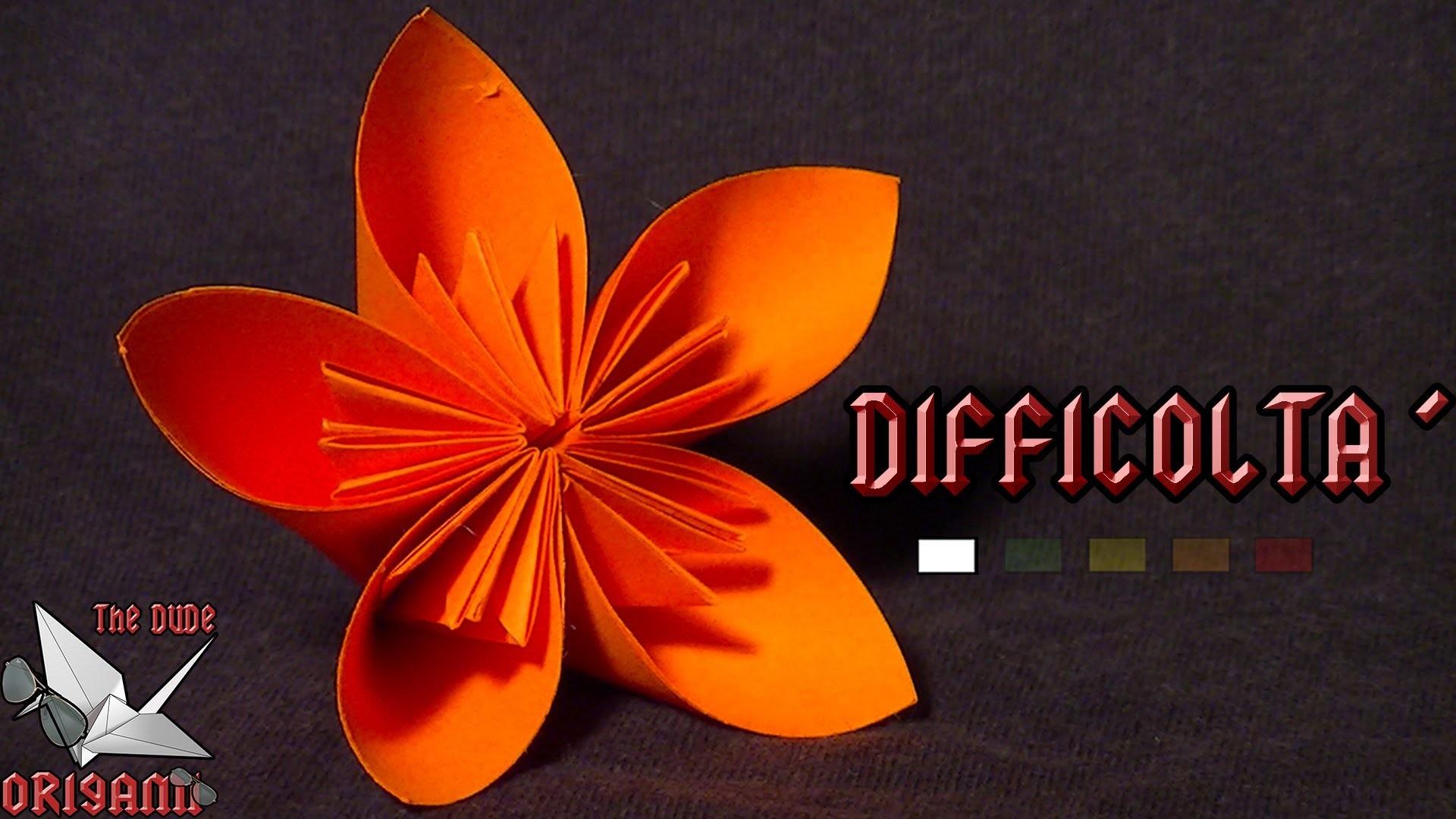 [ORIGAMI ITA] Semplicemente Fiore || Fiori.Origami Facili o Per Bambini