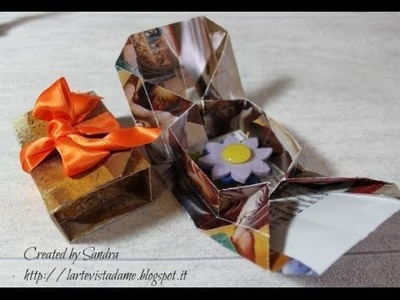 Origami scatola tutorial (Packaging).Origami box - Lartevistadame