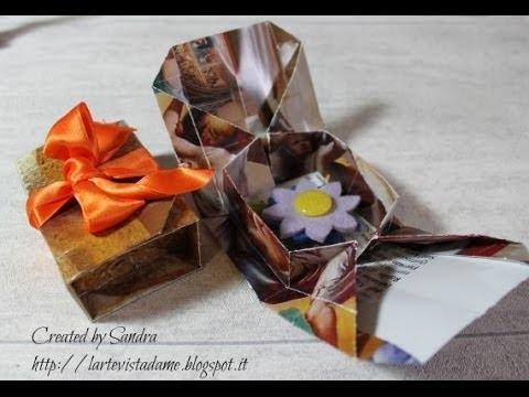 Origami scatola tutorial (Packaging).Origami box - Lartevistadame