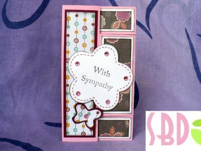 Scrapbooking tutorial: Card Tri-shutter - Tri-shutter card