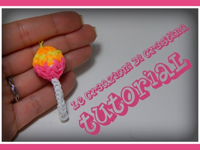 Tutorial Chupa Chups 3D con Elastici RAINBOW LOOM - DIY Lollipop Charm