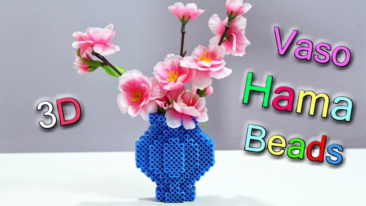 Vaso per Fiori con Hama Beads ✿Perler Bead Flower Vase✿