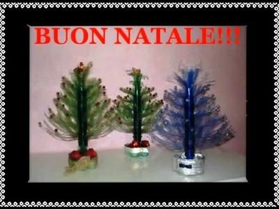 Albero di Natale con bottiglie di plastica Tutorial Riciclo Creativo DIY
