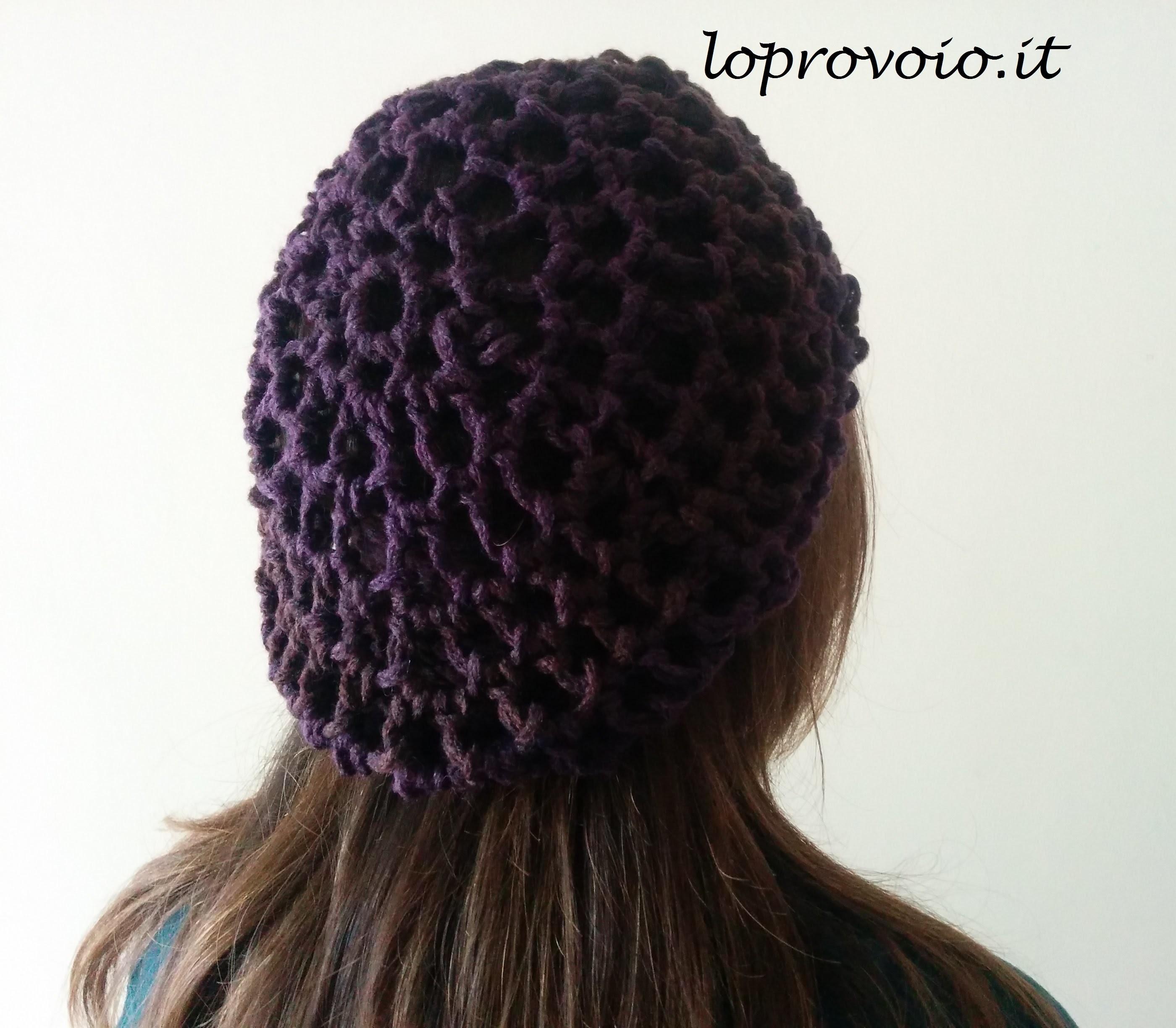 Baschetto al finger crochet! Hat finger crochet!