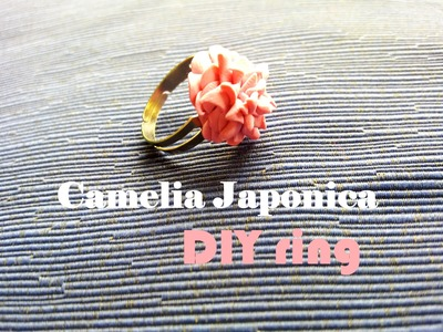 "Camelia Japonica ""Anello"" ❀ Camellia Japonica - DIY Ring in Polymer Clay ✿ Tutorial"