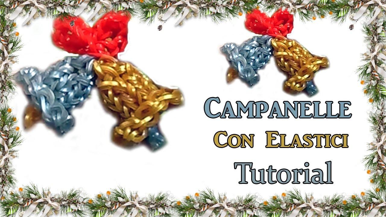 ★Campanelle in 3D Con Elastici DIY RAINBOW LOOM★ Tutorial!