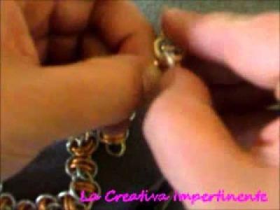 Chain mail Tutorial maglia semplice a laccio doppio, bracciale, orecchini - n 2 | diy earringslacey