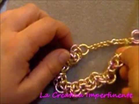 Chain mail Tutorial - maglia doppia a laccio bracciale - parte 2  |  DIY lacey double chain bracelet