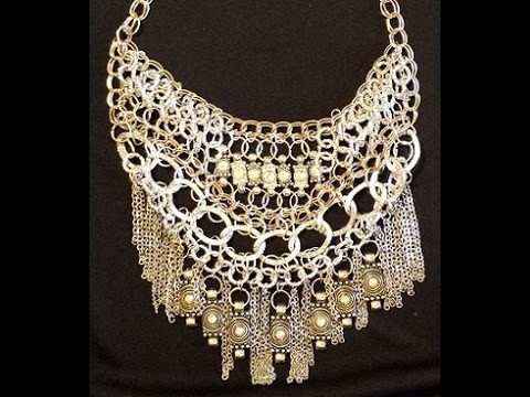 "Collana - collier ""millecatene"" - tutorial bijoux bigiotteria - diy necklace -"