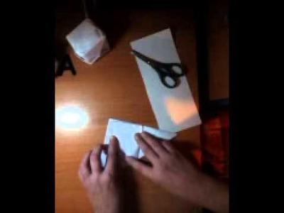 Come creare un cubo origami