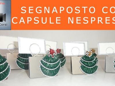 Craft and fun- Segnaposto con capsula Nespresso