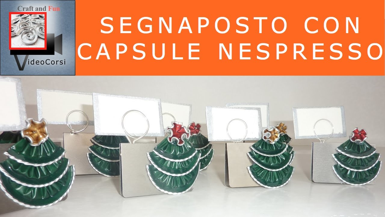Craft and fun- Segnaposto con capsula Nespresso