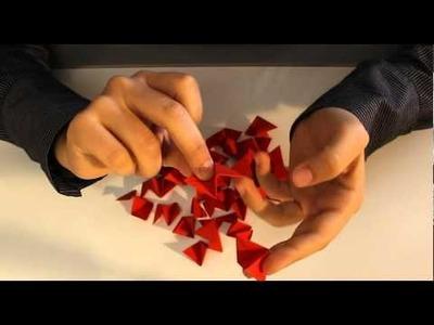 Decorazioni per l'albero _  Stella modulare natalizia origami _ Tutorial Musinlove