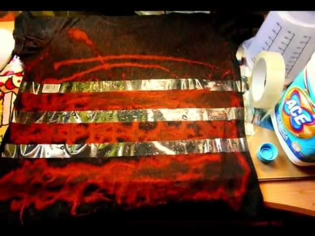 DIY: bleach t.shirt ITA version