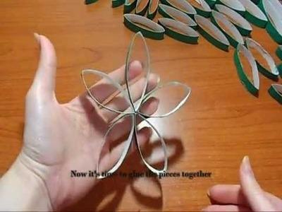 DIY: Ghirlanda di Natale con Rotoli di Cartoncino (Toilet Paper Rolls Xmas Wreath)