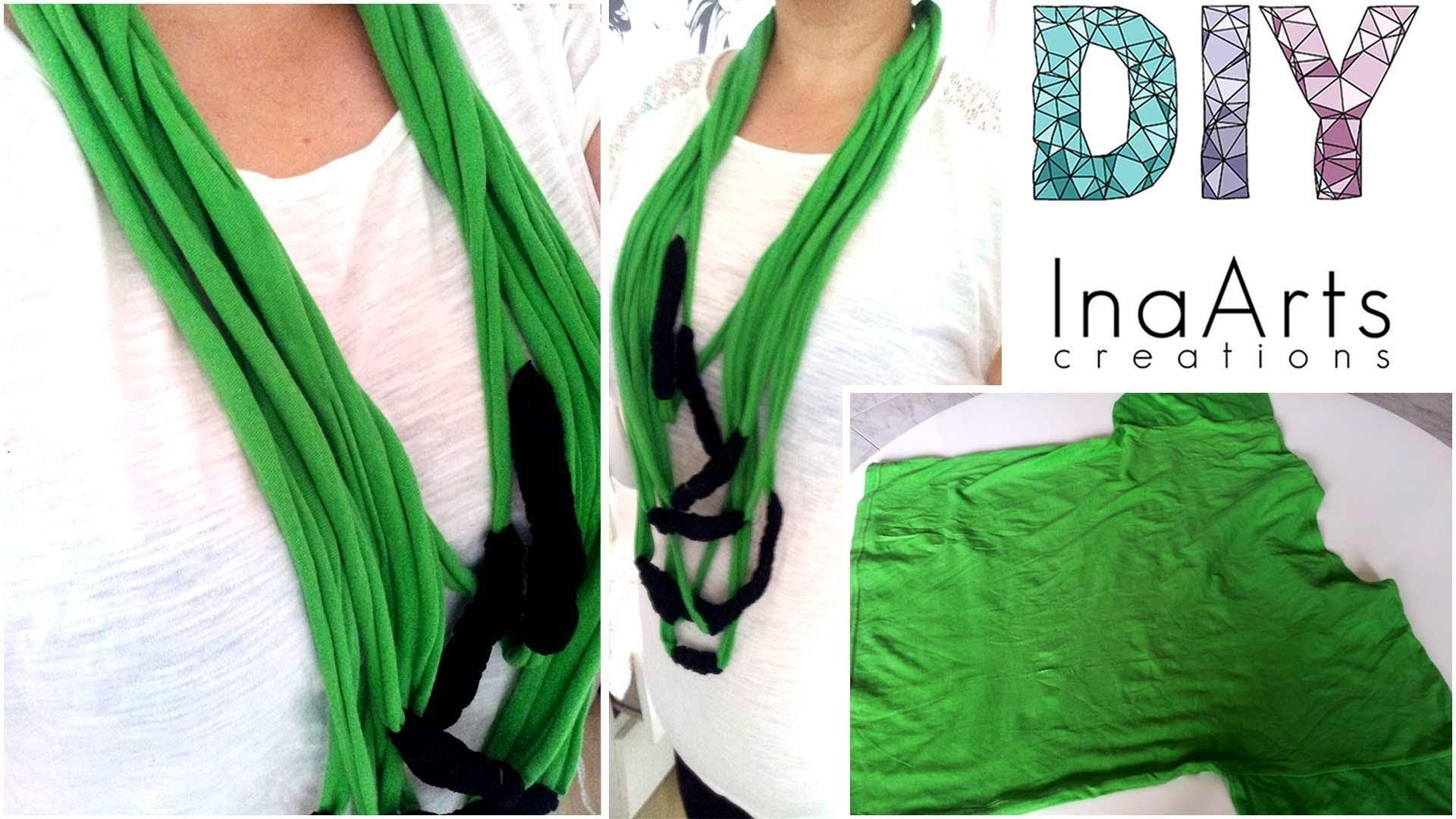 DIY necklase with old T-shirt
