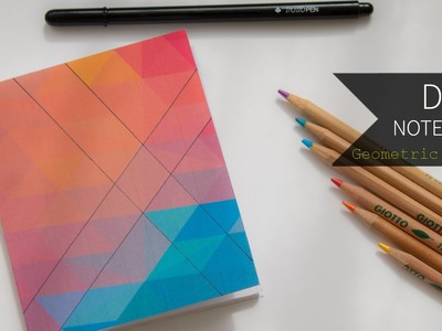 DIY Notebook ┇ Geometric Pattern