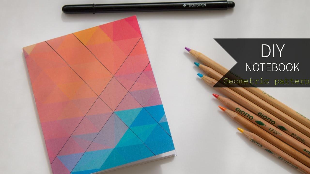 DIY Notebook ┇ Geometric Pattern