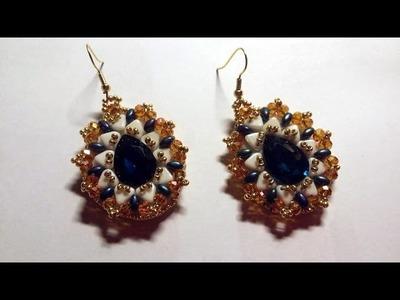DIY - Orecchini Goccia d'oriente embroidery beads