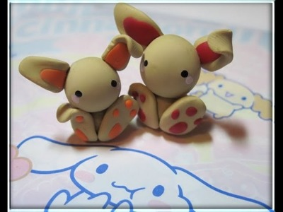 DIY Polymer clay: cute bunny!