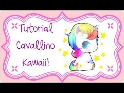 DIY Polymer clay: kawaii horse. tutorial cavallino kawaii!