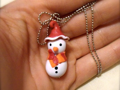 DIY Polymer clay snowman. pupazzo di neve!