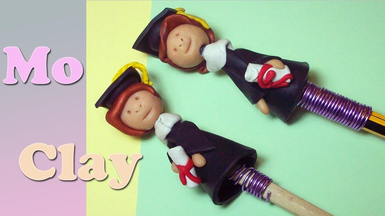 Diy: Polymer clay Tutorial -ricordo per una Laurea - Regalo de graduacion - Graduation Gift