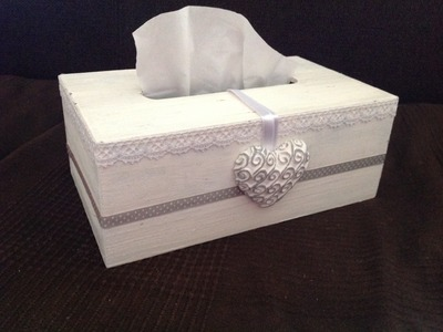 DIY scatola porta fazzoletti Shabby Chic