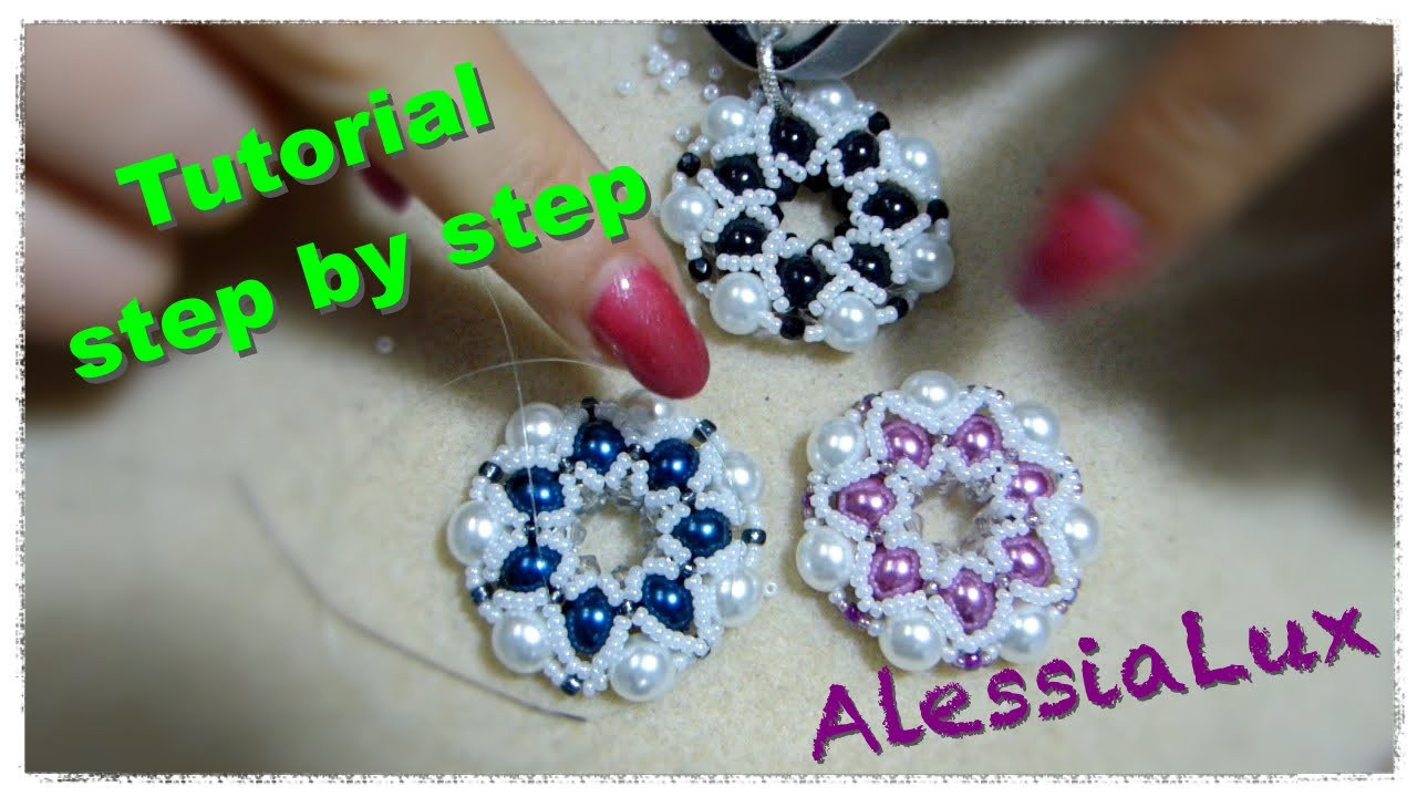 Diy tutorial ciondolo perle e perline 2 come fare gioielli fai da te