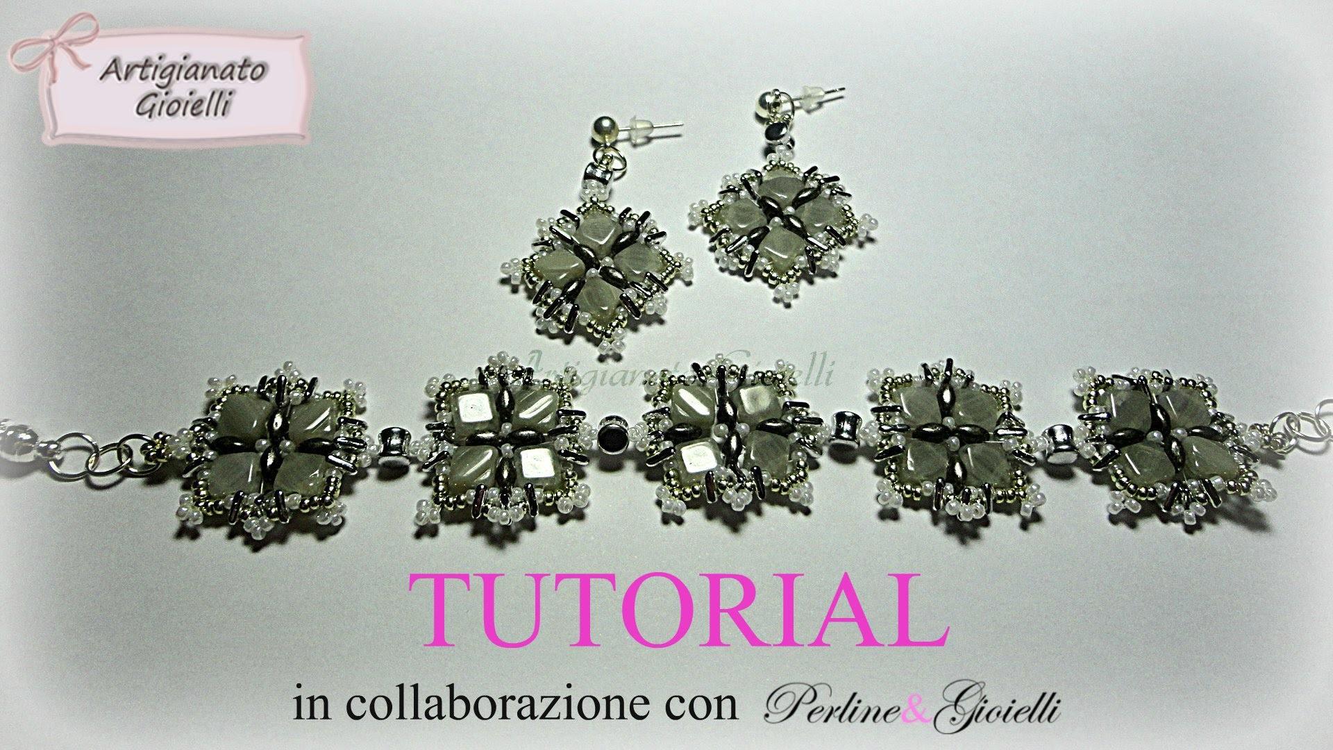 DIY Tutorial perline: orecchini e bracciale Snowflake con nuove perline!!!