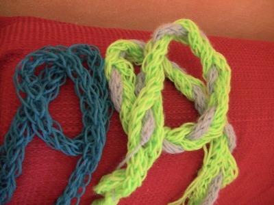 Finger knitting (maglia a mano) per bambini