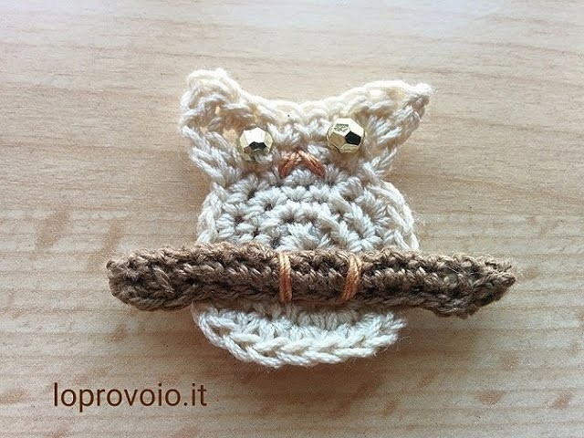 Gufo all'uncinetto - Crochet owl