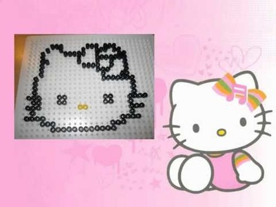 HELLO KITTY hama beads tutorial