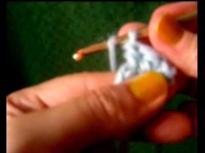 Lezioni di Uncinetto - La maglia alta - double crochet tutorial