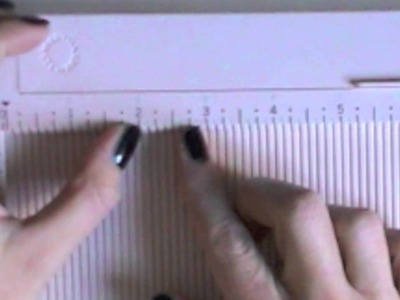 Misurazione in pollici e score board di Martha Stuart - Scrapbooking Tutorial - Lartevistadame