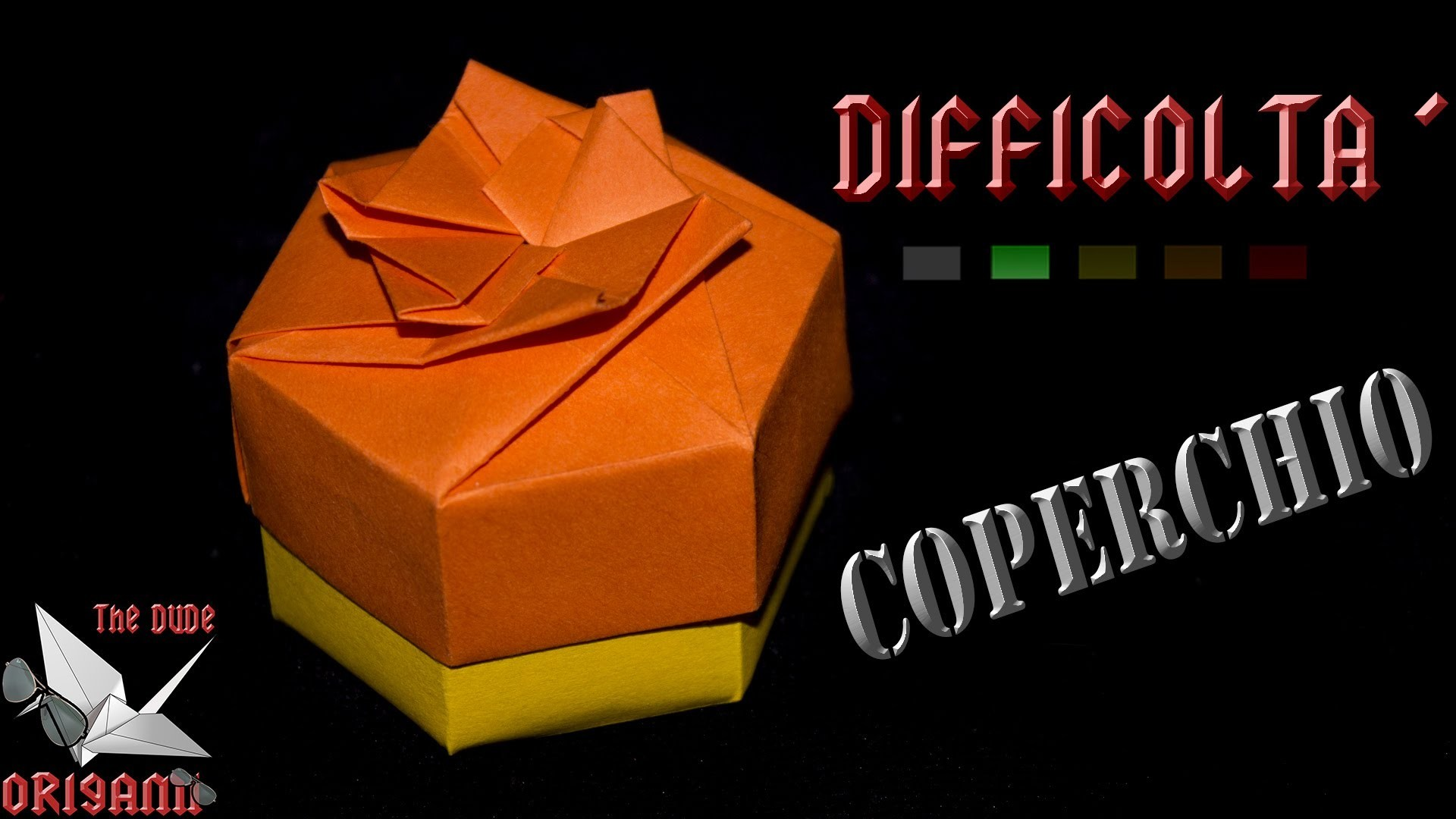 [ORIGAMI ITA] Scatola Esagonale Facile (Coperchio)    Origami Decorativi.Utili