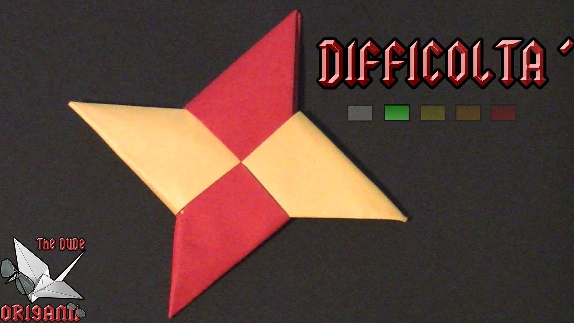 [ORIGAMI ITA] Stella Ninja (Shuriken)    Origami Modulari.Per Bambini (E Non Solo!)