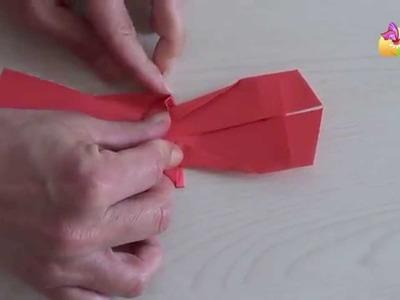 Origami vestito rosso [HD] www.mammaebambini.it