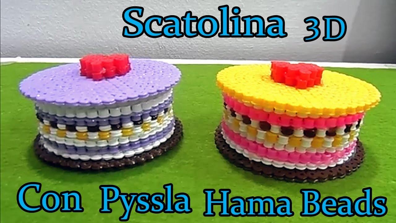 ★ Scatolina 3D Con PYSSLA (Hama Beads) Tutorial !★
