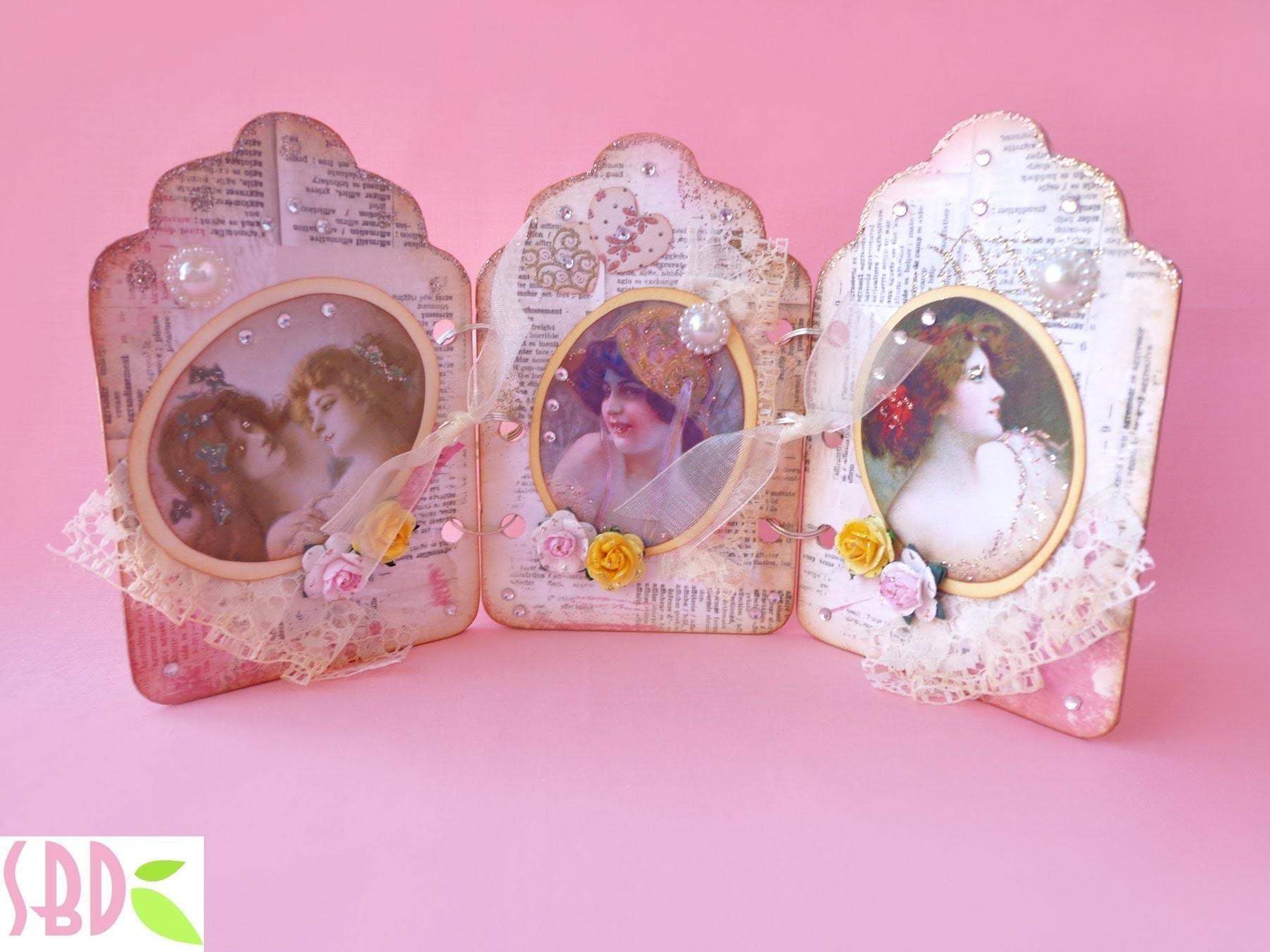 Scrapbooking Cornice Trittico Shabby Chic - Triptych Shabby chic Frame