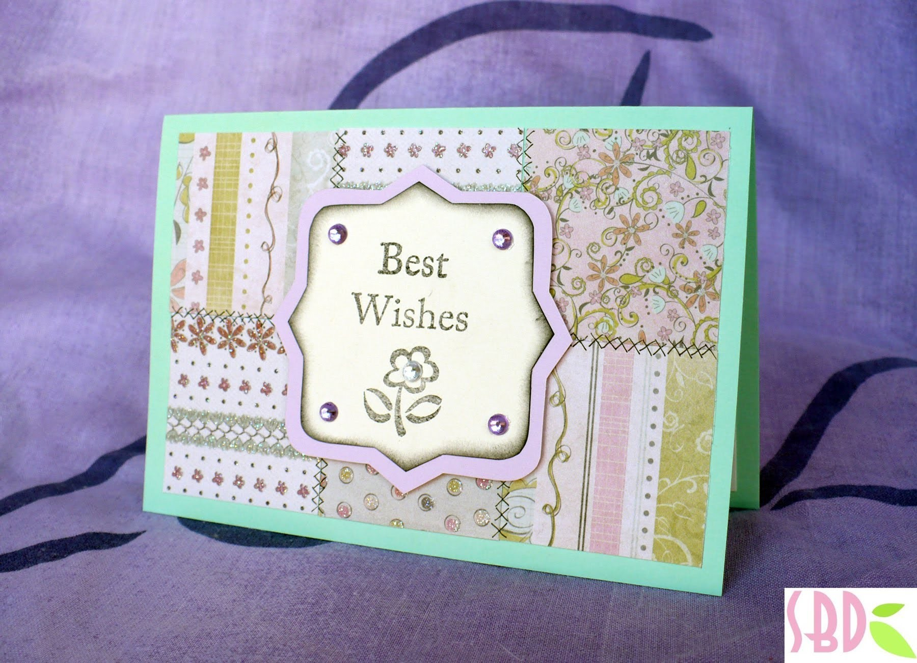 Scrapbooking tutorial: Card Patchwork