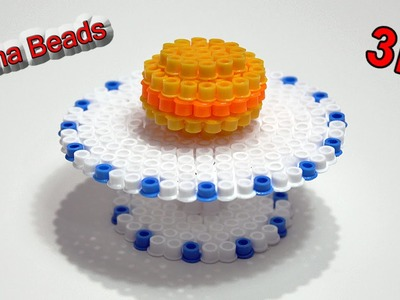 Tavolo.Alzatina per Dolci con Hama Beads.Table Perler Beads