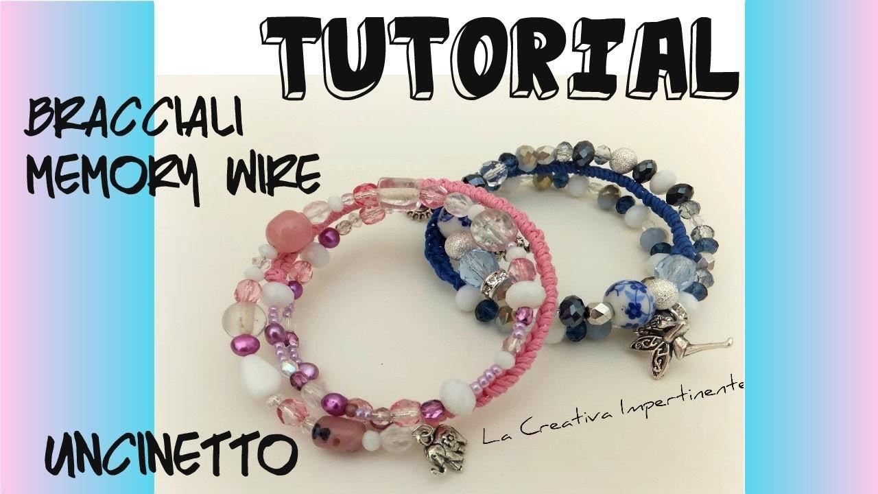 Tutorial bracciale uncinetto e filo armonico | wire and cotton crochet bracelet
